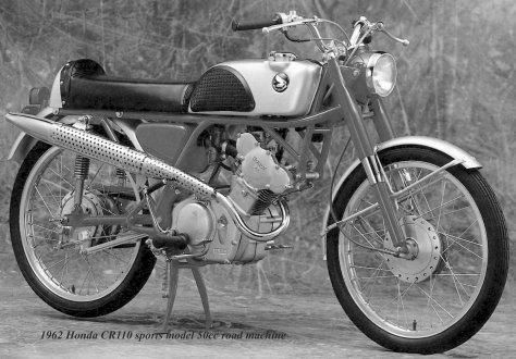 1962 CR110 sports model 50cc Honda-1a