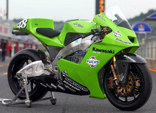 Kawasaki Ninja ZX-RR, debut Pertama Kawasaki di Motogp 2002   Honda XL125  replica