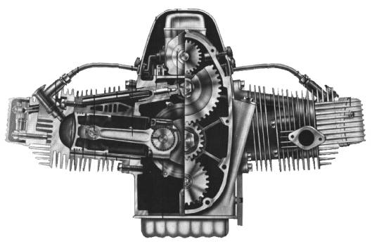 Zundapp KS750 engine